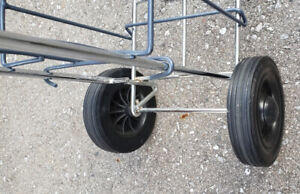 Rolling Two Wheel Oxygen Tank Cylinder Cart Carrier