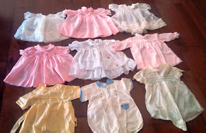 Nine Vintage Baby/Doll Dresses, Outfits, Most With Embroidery Kitchener / Waterloo Kitchener Area image 1