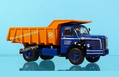 camion di cantiere edile BERLIET GLM 10 in contenitore per rifiuti in metallo