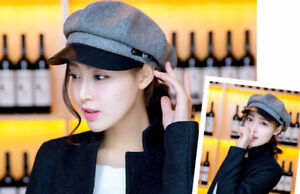 New Newsboy Cap military army beret hat leather fedora trilby