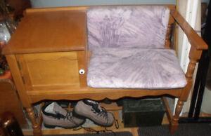 Très beau meuble d'entrée tout en bois