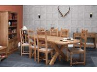 Copeland Oval Oak Extending Dining Table