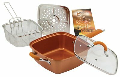 Square Copper Pan Pro - As Seen On (As Seen On Tv Square Copper Pan Pro)