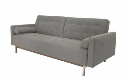3 Seater Sofa Bed Lounge Couch Futon Design Furniture Cushion LS4 Hume Area Preview