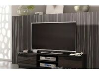 TV Unit Cabinet Stand Black