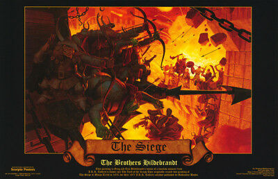 LOT OF 2 POSTERS: FANTASY : THE SIEGE  by BROS. HILDEBRANDT  #588   RC31 S