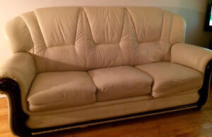 REAL LEATHER COUCHES $250 FOR THE PAIR West Island Greater Montréal image 1