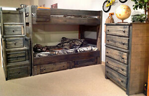 Free Delivery!  Solid Pine Full Over Full Bunk Bed! Edmonton Edmonton Area image 2