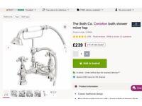 Brand new Victorian style bath taps shower mixer
