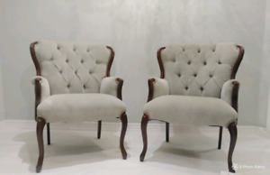 French Provincial Antique Chairs- Reoupstered
