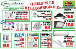 LED SAVINGS FOR JENCO'S 10 YEAR ANNIVERSARY SALE!!