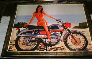 3 Classic Suzuki motorcycle pics - mounted, ready to display
