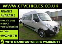 2016 66 plate Vauxhall MOVANO F3900 L3H2 CDTI MINIBUS 17 SEATER only 1200 miles