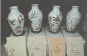 Franklin Porcelain Bird vases