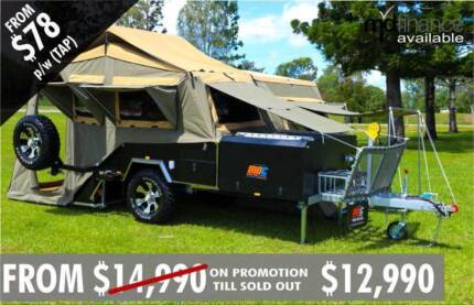 NEW OFFROAD REARFOLD HARDFLOOR CAMPER TRAILER 4X4 4WD HARD SALE Burton Salisbury Area Preview
