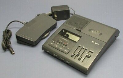 Sony Bm-840 Microcassette Transcriber With Foot Pedal Ac Adapter