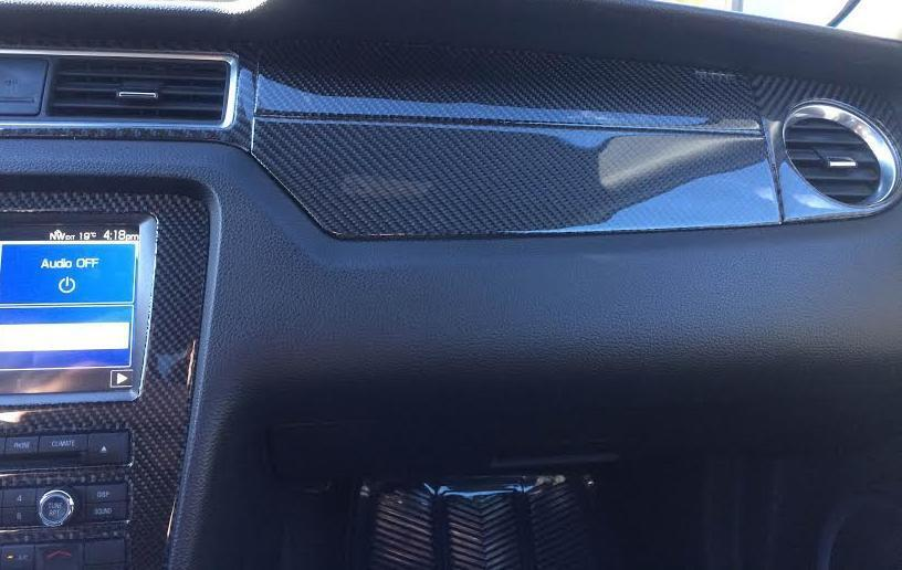 Ford Mustang Gt 500 Interior Real Carbon Fiber Dash Trim Kit Set 2010 2011 2012 Cad