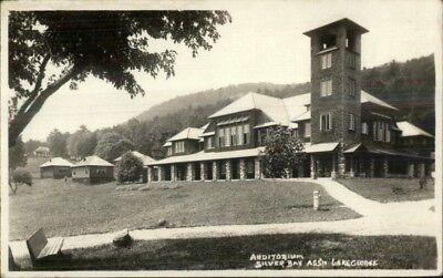 Lake George Ny Silver Bay Auditorium C1920 Real Photo Postcard