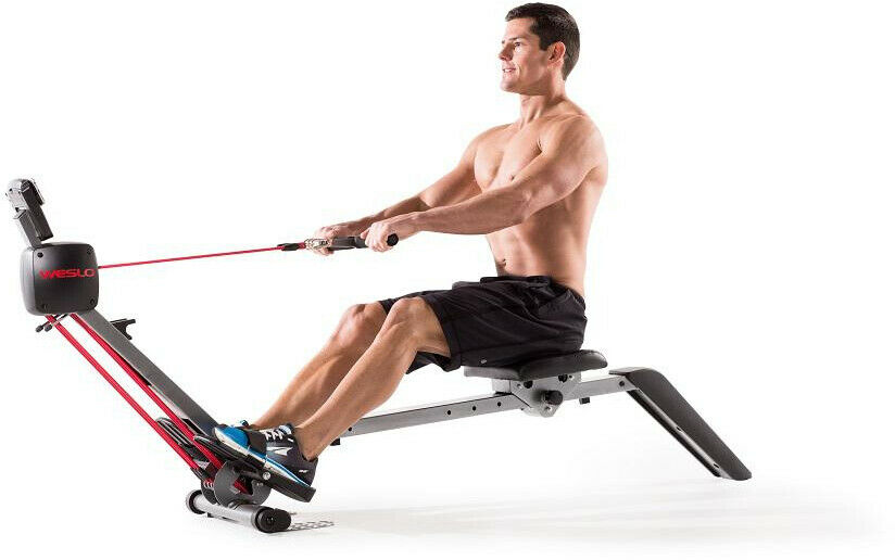 Rowing Machine Cardio Exercise Folding Weslo Fitness Rower