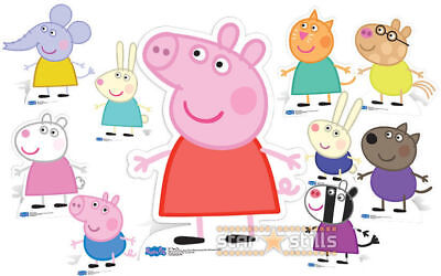 Official Peppa Pig Lifesize Cardboard Cutouts Standees standups decorations