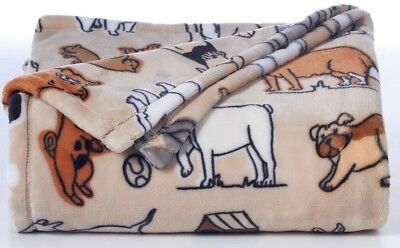 """""""DOGS"""" THE BIG ONE SUPERSOFT PLUSH WARM THROW 60"""" x 72""""  SUPER SOFT BLANKET"""