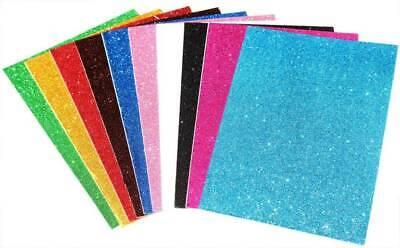Glitter Foam Sheets (EVA Foam sheets reg & glitter eva 12x18 10 pc kids craft arts)