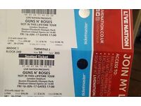 Guns n Roses tickets x2