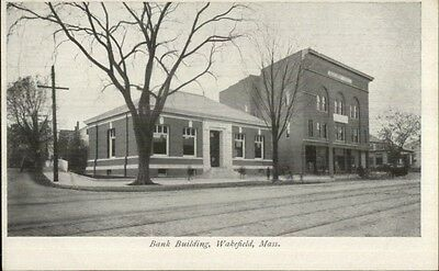 Wakefield Ma Bank Building C1900 Private Mailing Card