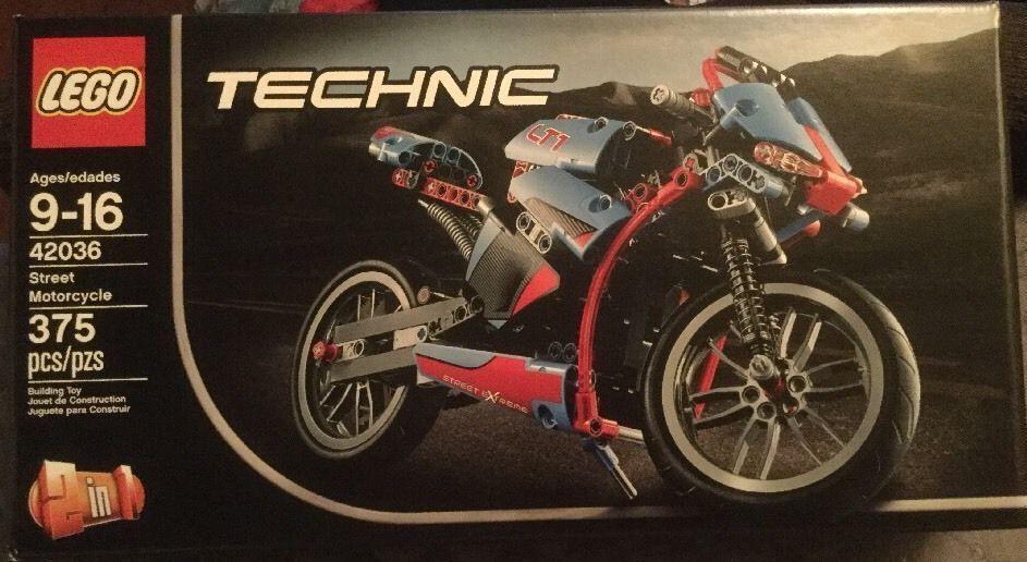 FLAWLESS BOX 42036 LEGO Technic Street Motorcycle NEVER OPEN