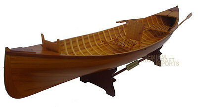 Scale Adirondack Guideboat Wooden Display Canoe Model 24""
