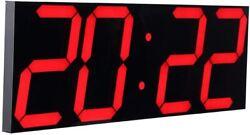 CHKOSDA Remote Control Jumbo Digital RED Led Wall Clock, Multifunction Led Clock