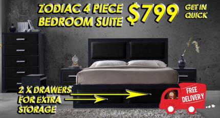 Brand New QUEEN Size Bedroom Suite ZODIAC - DELIVERED FREE