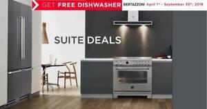 Bertazzoni Professional Kitchen Appliance Packages get Free Dishwasher with Package Offer Ends Sept 30 2018