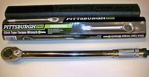 Pittsburgh Pro 1/2 Drive Click Type Torque Wrench