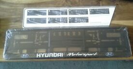 GENUINE REAR OR FRONT HYUNDAI NUMBER PLATE SURROUND