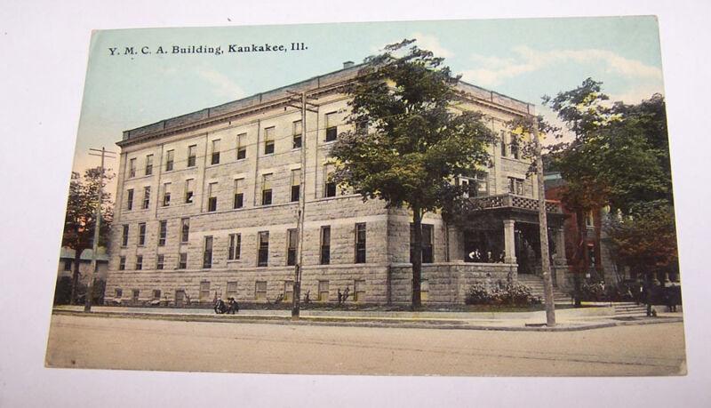 1911 YMCA Building KANKAKEE ILLINOIS Postcard