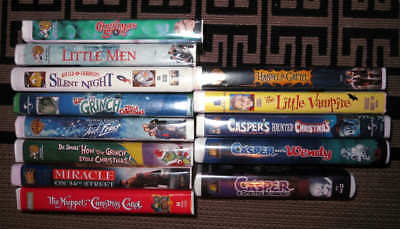 VHS lot of 13 Christmas Halloween Family movies great - Great Family Halloween Movies