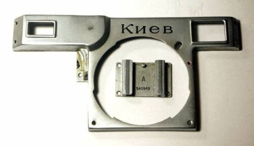 1954 USSR Front panel face camera  Kiev 2/3 spare repair parts and hot shoe