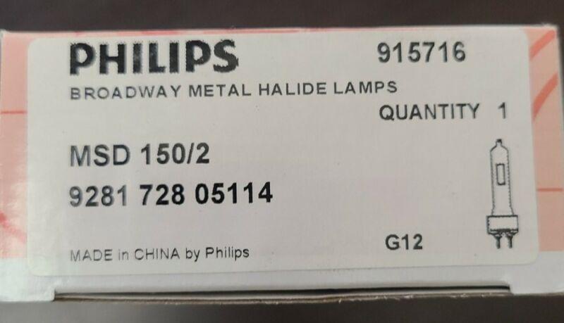 Philips MSD 150/2 Broadway Metal Halide Lamp 928172805114 G12 915716