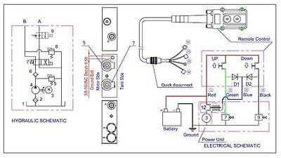Double Acting Hydraulic Power Unit Remote Dump Tipper 281175450026 on big tex dump trailer wiring diagram