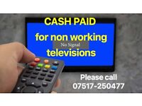 All Non working or faulty lcd (flat type) televisions wanted