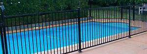Pool Fencing Black Flat Top Aluminium 1.2m x 2.4m Cessnock Cessnock Area Preview