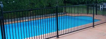 Pool Fencing Black Flat Top Aluminium 1.2m x 2.4m