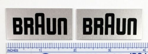 Braun speaker badge logo emblem plate pair LARGE SIZE