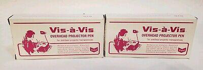 Vintage Sanford Vis-a-vis Overhead Projector Pen 23 Black Pens Fine Point 16001