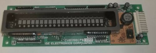 ISE Electronics Noritake 20-Character Vacuum Fluorescent Display CU205ECPB-11AS