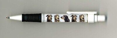 Scottish Deerhound Dog Design Retractable Acrylic Ball Pen by paws2print