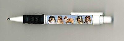 Rough Collie Dog Design Retractable Acrylic Ball Pen by paws2print