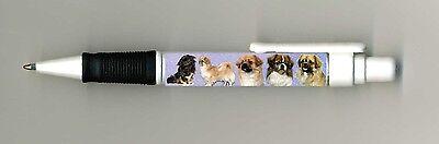Tibetan Spaniel Dog Design Retractable Acrylic Ball Pen by paws2print
