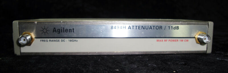 HP 8494H Programmable Step Attenuator, DC to 18 GHz, 0 to 11 dB, 1 dB steps
